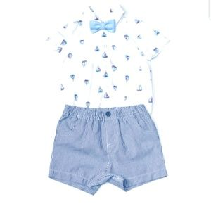 Little Me Baby Boy Sailboat Short Set 6m